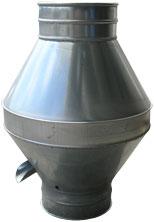 Cappello a doppio cono. cappello doppio cono. Tubazione in lamiera zincata  o acciaio inox per condotte ... 46229f2d5196